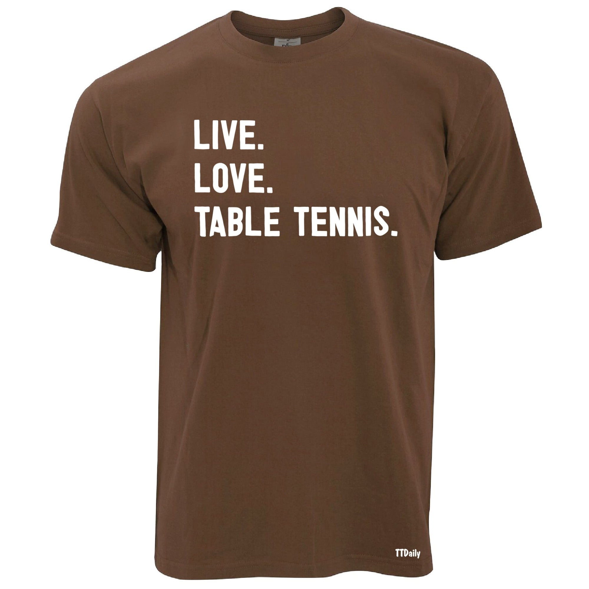 Live Love Table Tennis Table Tennis T Shirt Ping Pong Player