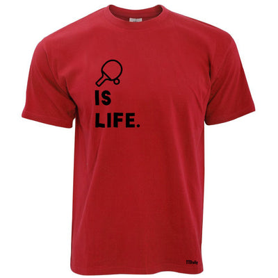 Table Tennis Is Life T Shirt Bat & Ball