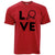 Table Tennis T Shirt Love Blade Ping Pong Player Bat & Ball