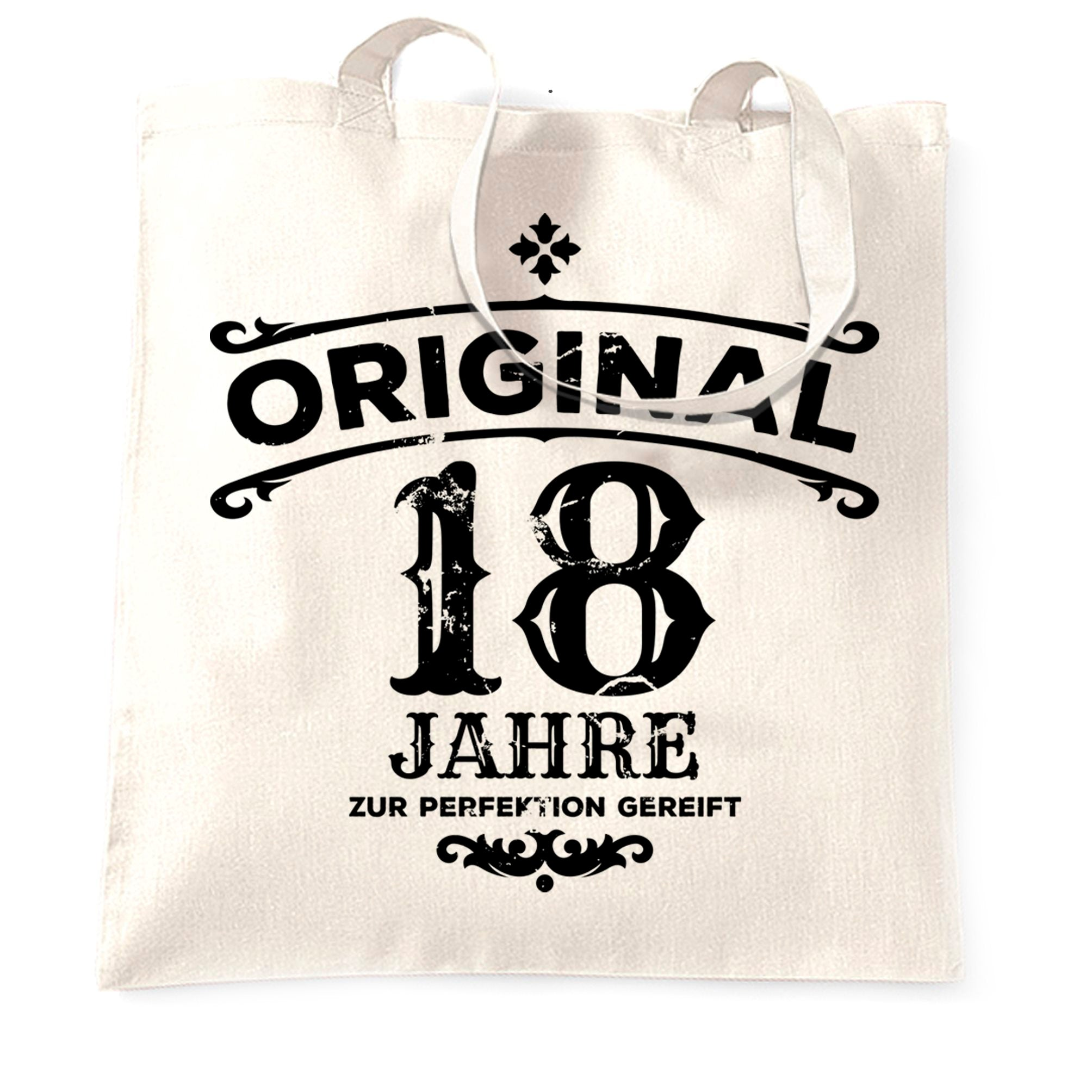 18th Birthday Tote Bag Original Aged 18 Eighteen Years