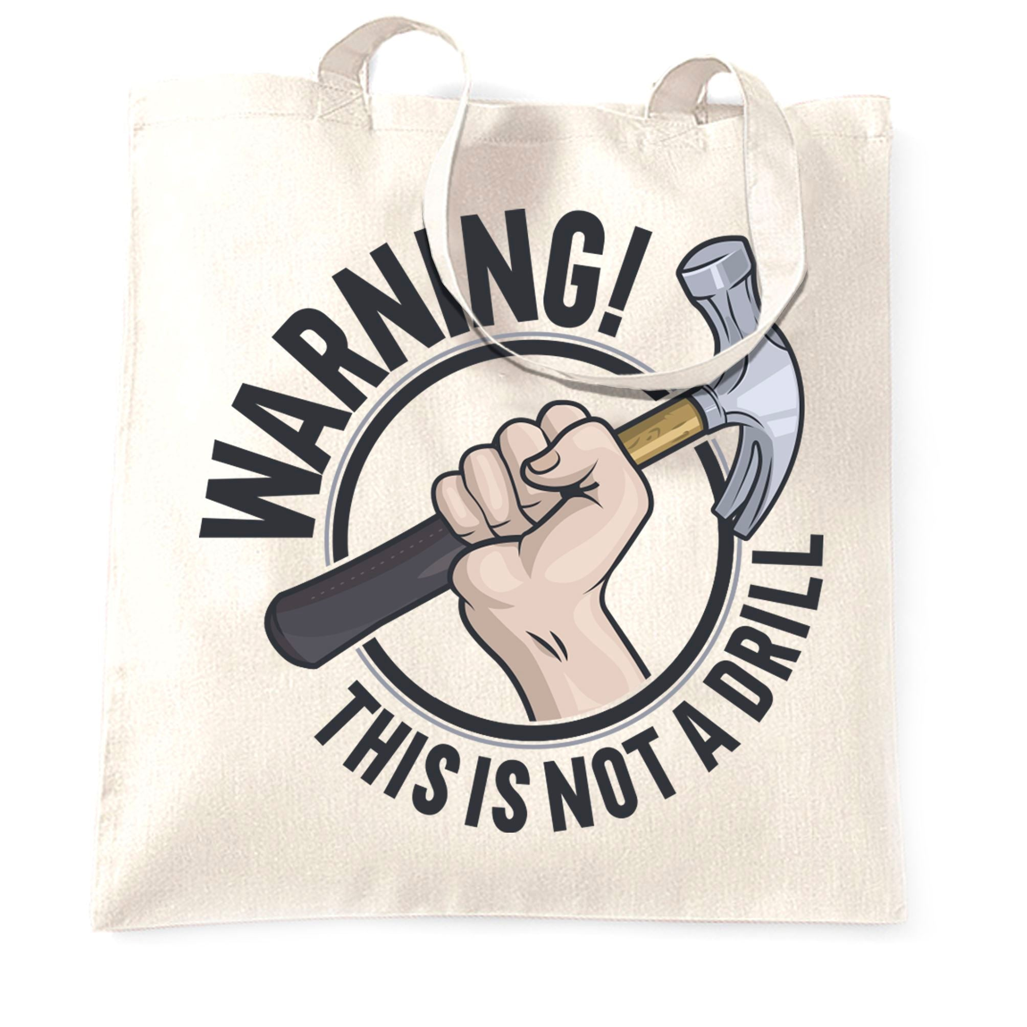 Dad Joke Tote Bag Warning This Is Not A Drill