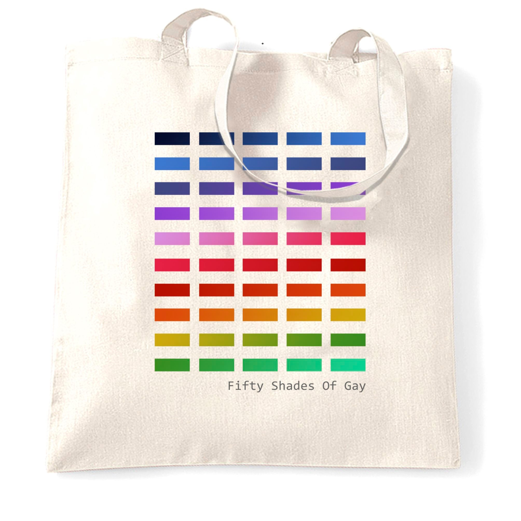 50 Shades Of Gay Tote Bag Rainbow LGBT+ Pride