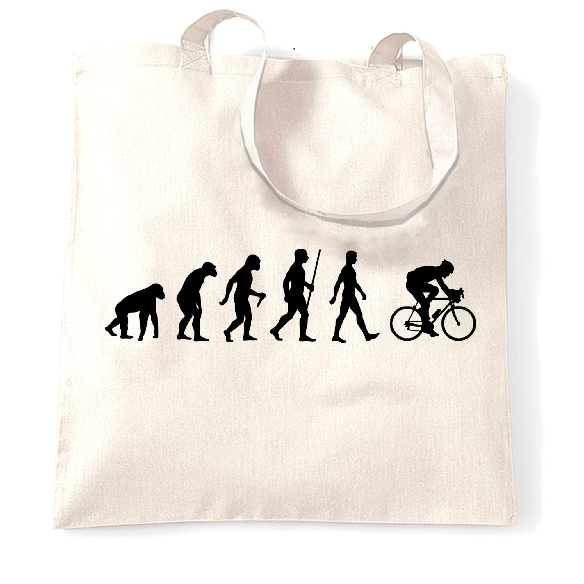 Novelty Tote Bag The Evolution of Cycling