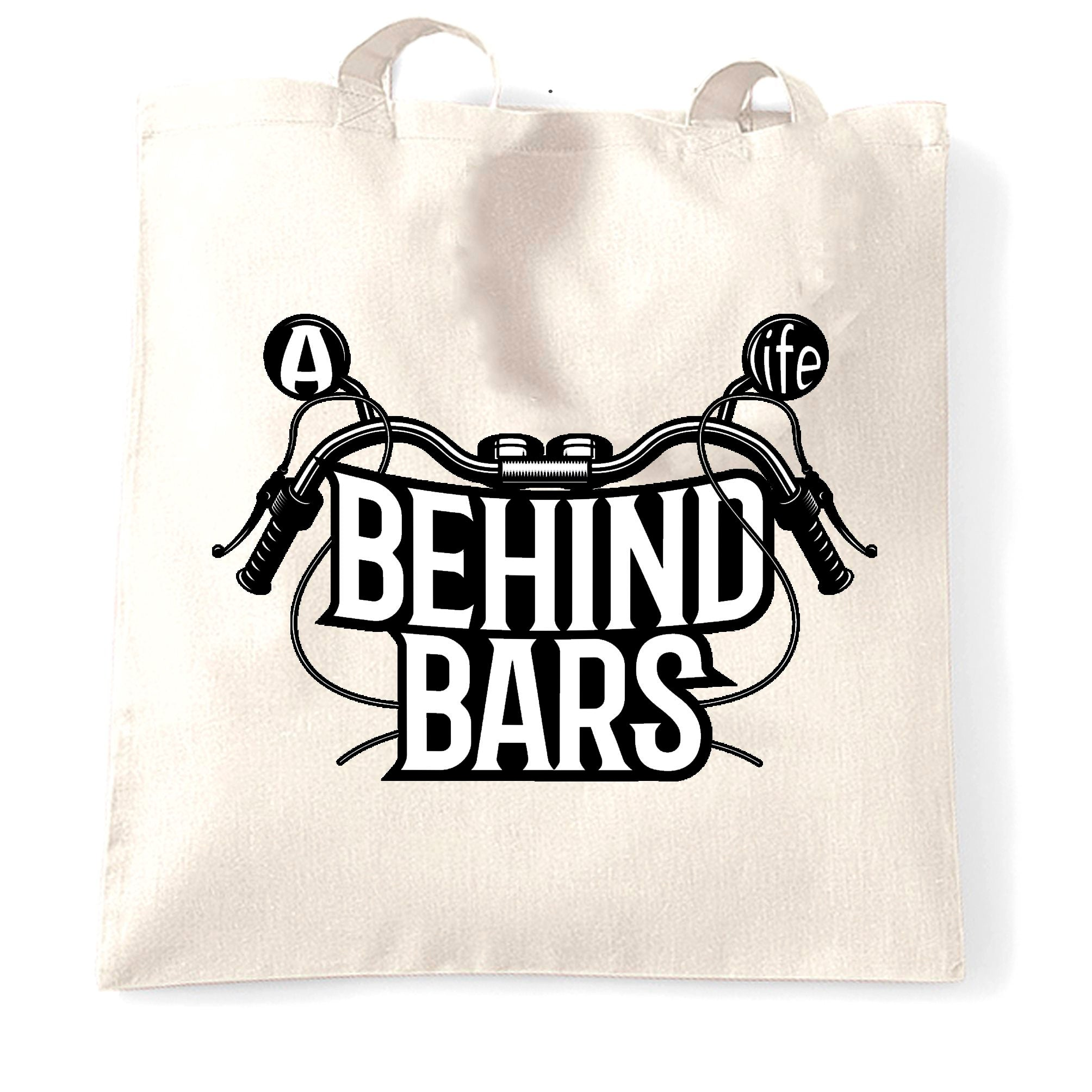 Biker Tote Bag A Life Behind Bars