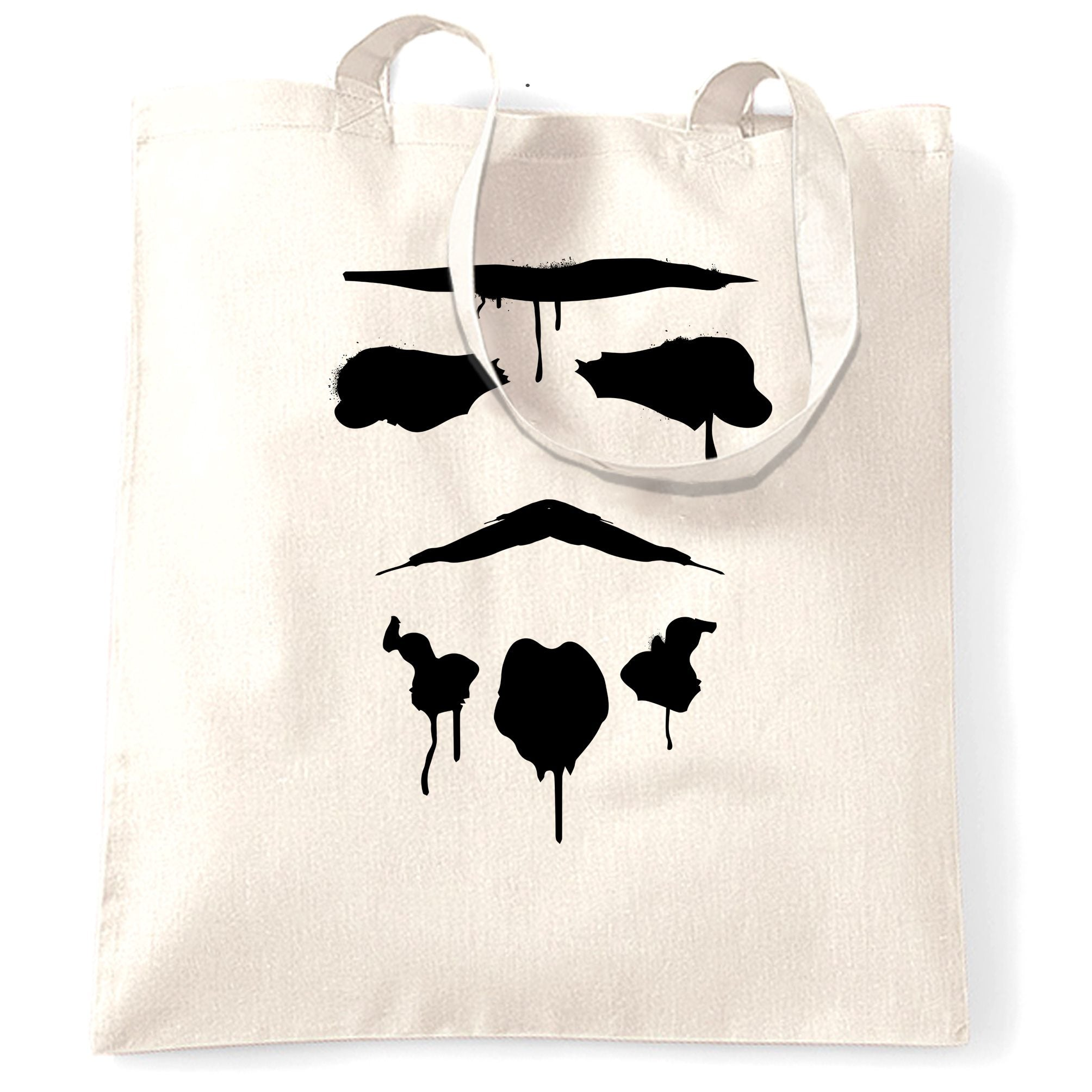 Graffiti Trooper Rorschach Mask Tote Bag