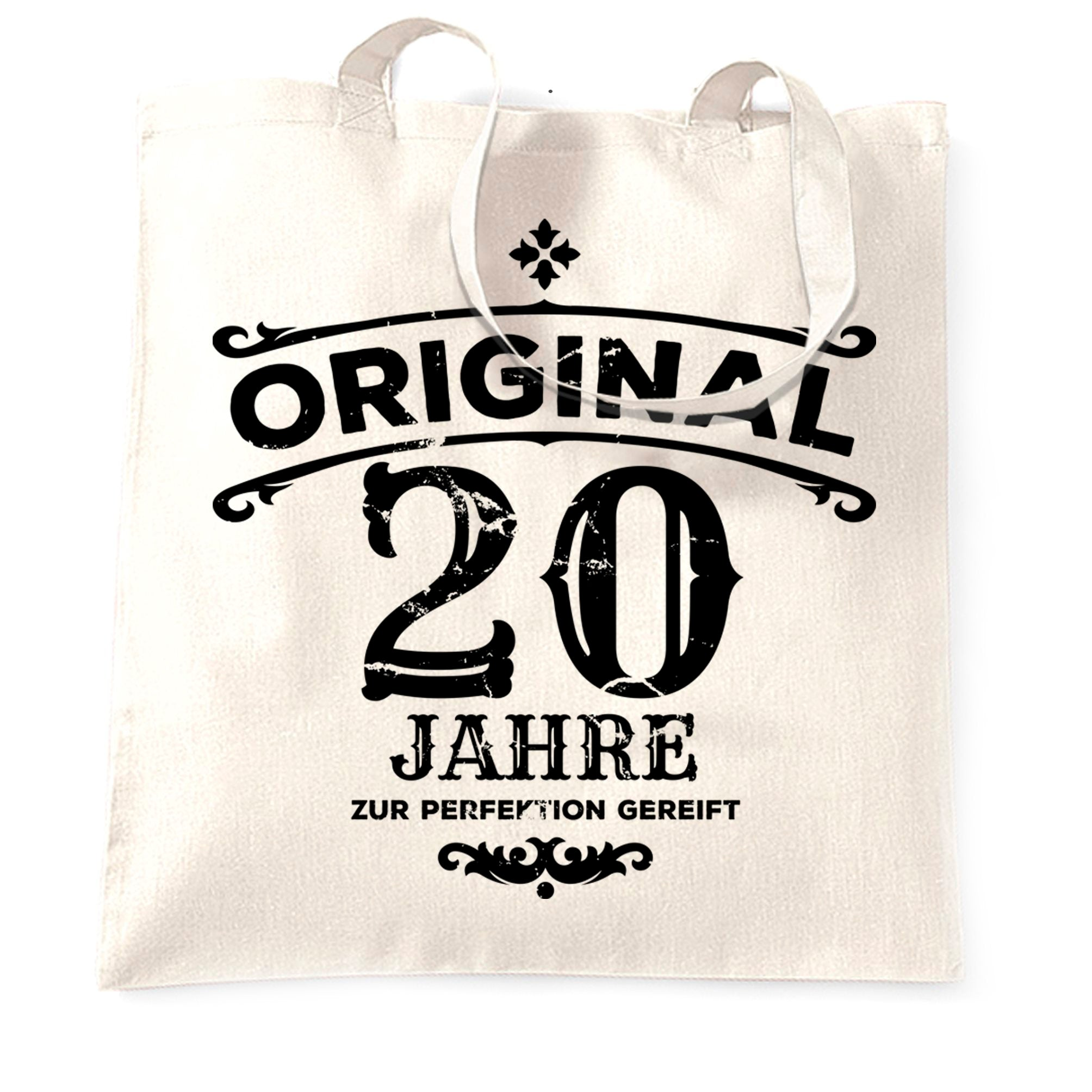 20th Birthday Tote Bag Original Aged 20 Twenty Years