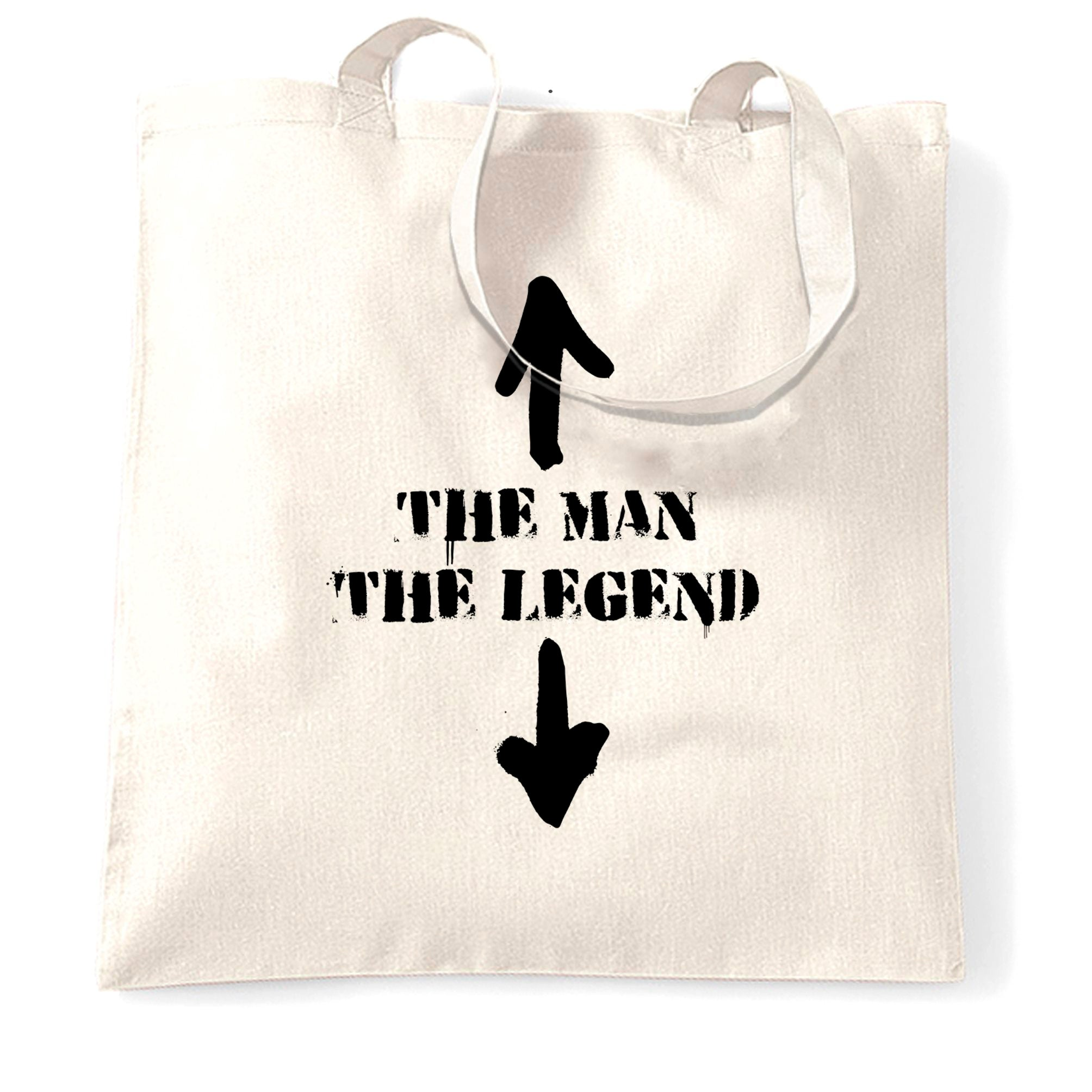 Cool Tote Bag The Man, The Legend Novelty Funny Slogan