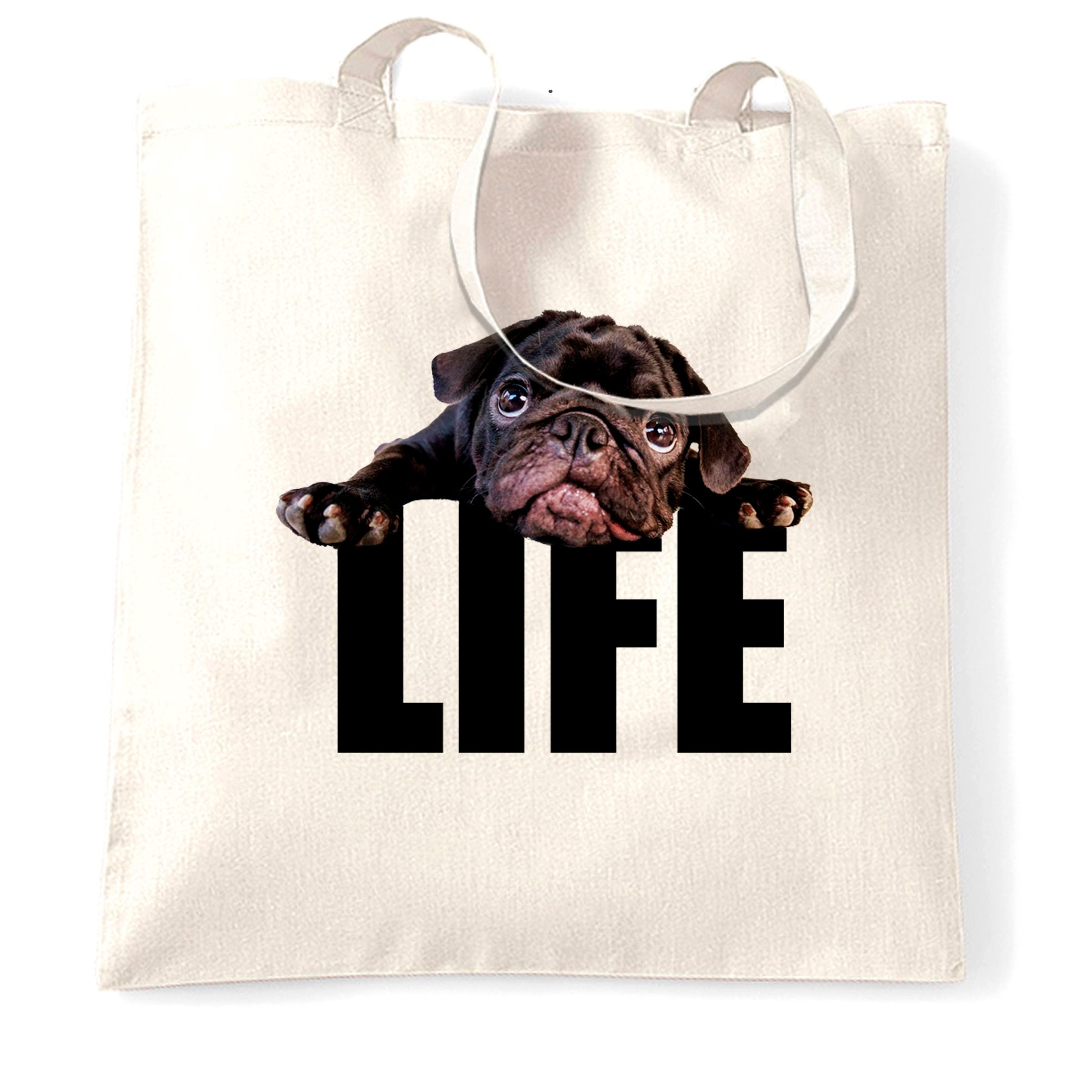 Cute Dog Tote Bag Pug Life Puppy