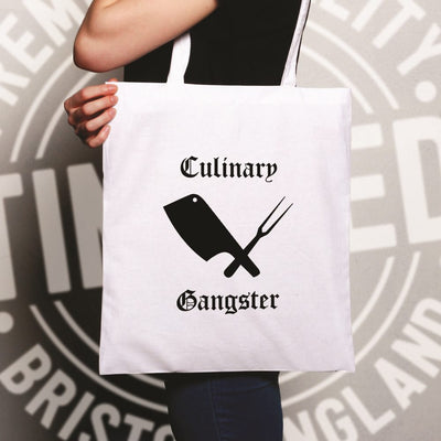 Cooking Tote Bag Culinary Gangster Cuisine Logo