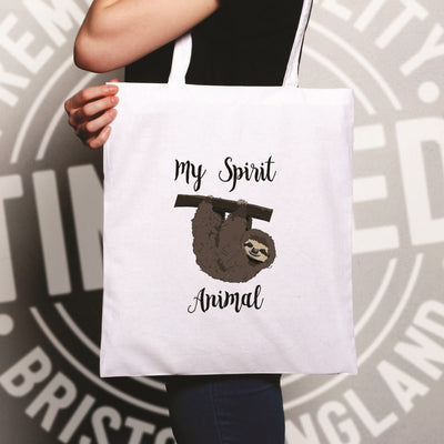Novelty Lazy Tote Bag My Spirit Animal Is A Sloth