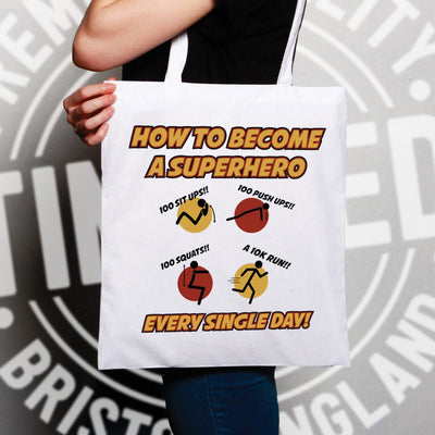 Novelty Anime Parody Tote Bag How To Become A Superhero