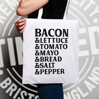 BLT Tote Bag Bacon Lettuce Tomato Sandwhich