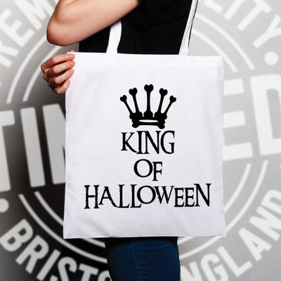 Novelty Spooky Tote Bag King Of Halloween Crown