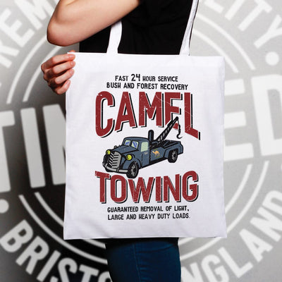 Novelty Mechanic Tote Bag Camel Towing Car Recovery