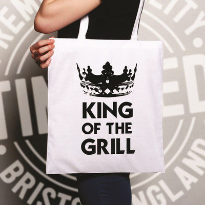Novelty Cooking Tote Bag King Of The Grill Slogan