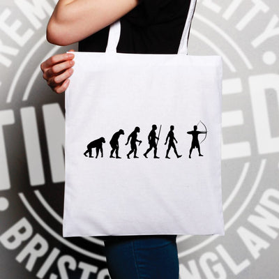 Novelty Tote Bag The Evolution of Archery