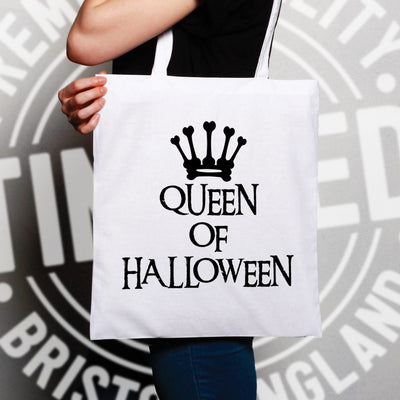 Novelty Spooky Tote Bag Queen Of Halloween Crown