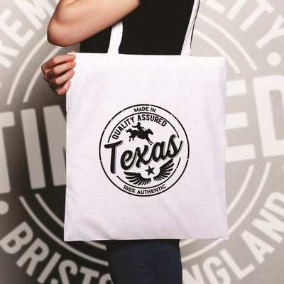 Hometown Pride Tote Bag Made in Texas Stamp