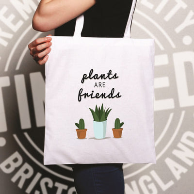 Cute Gardening Tote Bag Plants Are Friends Cactus