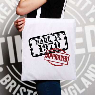 18th Birthday Tote Bag Distressed Made in 2002 Approved