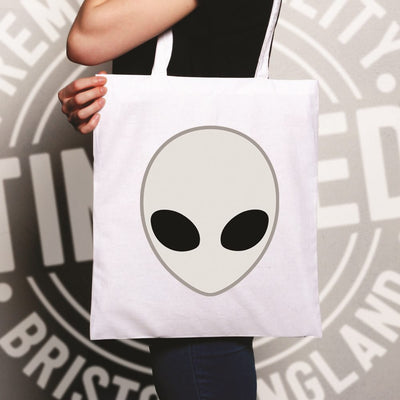 Alien Tote Bag Nerdy Iconic Sci Fi Head Design