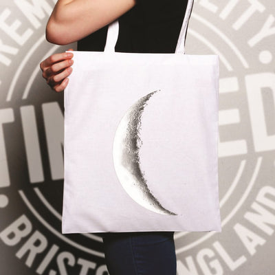 Space Tote Bag Crescent Half Moon Astronomy
