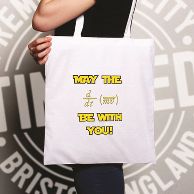 Funny Nerd Tote Bag May The Force Be With You Pun