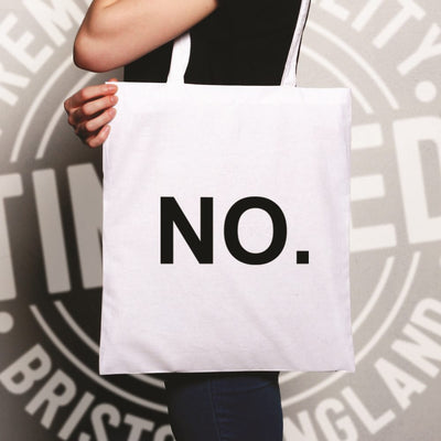 Novelty Tote Bag With Just The Word No.