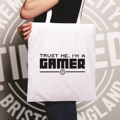 Gaming Tote Bag Trust Me, I'm a Gamer Slogan