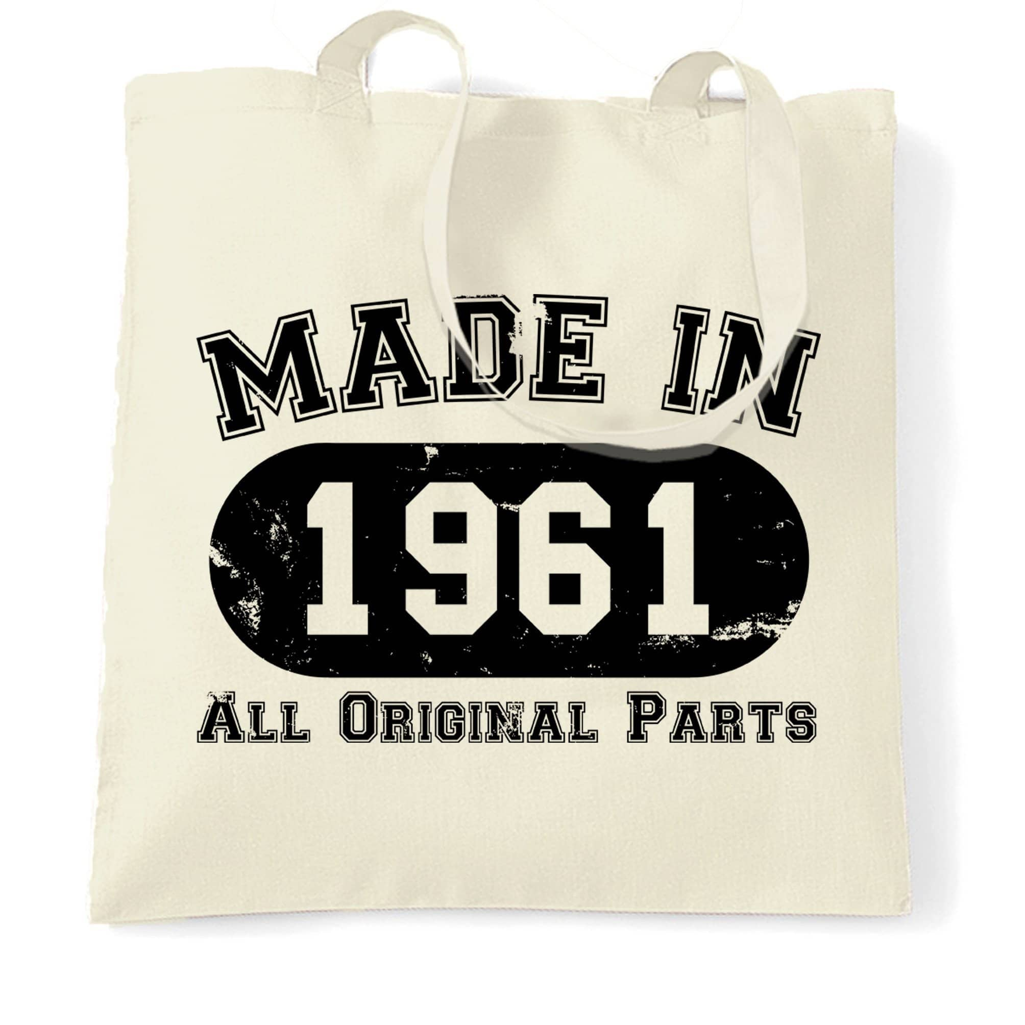 Made in 1961 All Original Parts Tote Bag [Distressed]