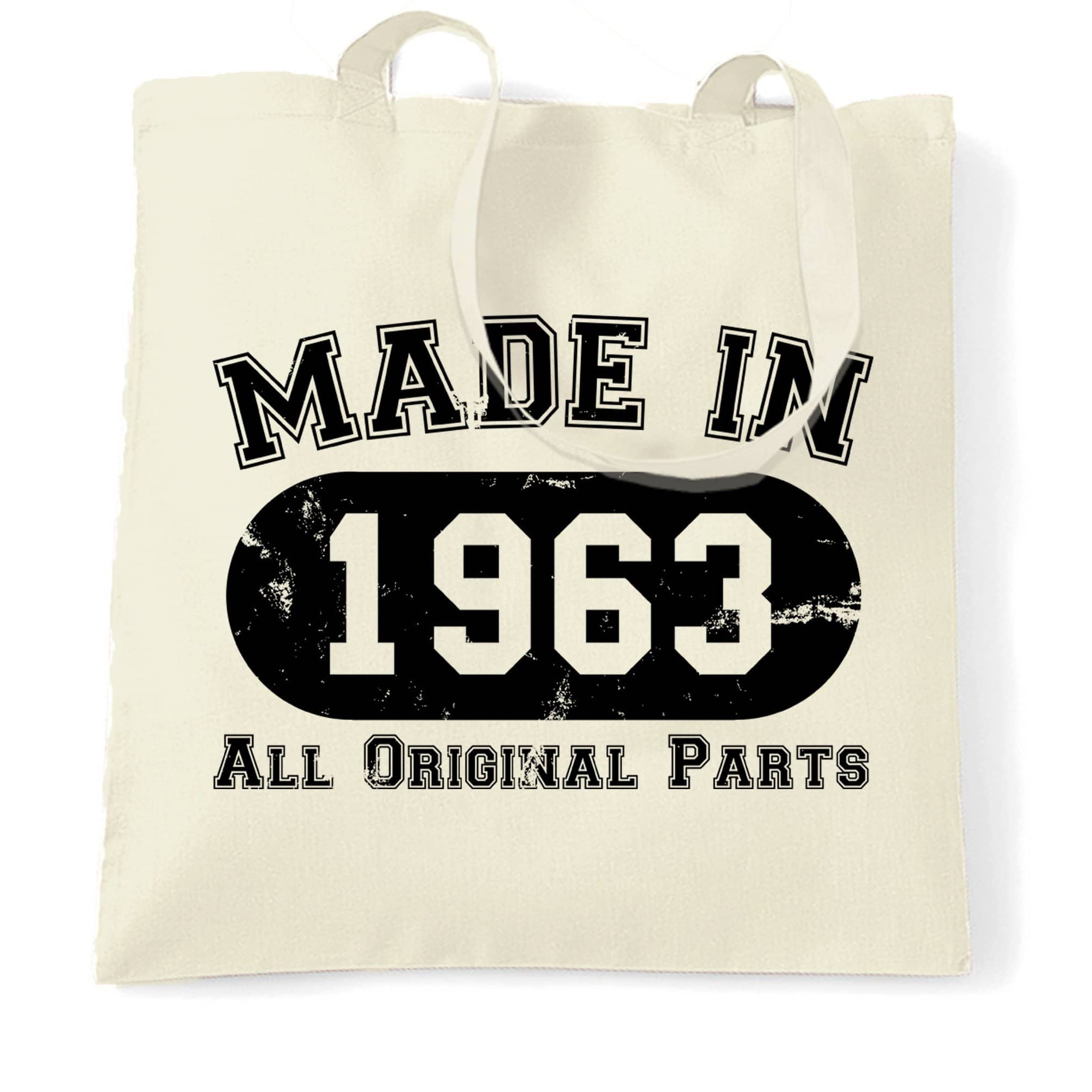 Made in 1963 All Original Parts Tote Bag [Distressed]