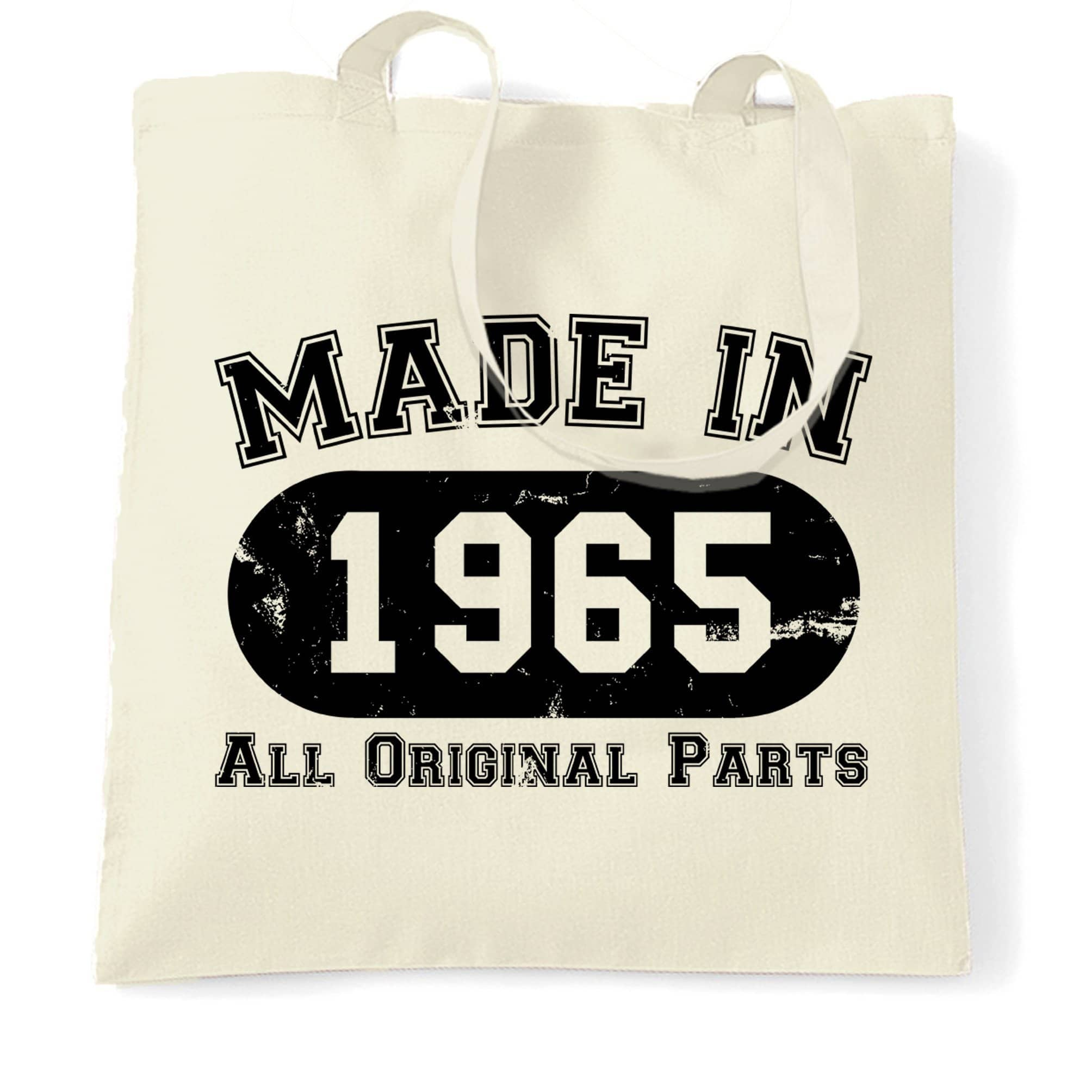 Made in 1965 All Original Parts Tote Bag [Distressed]