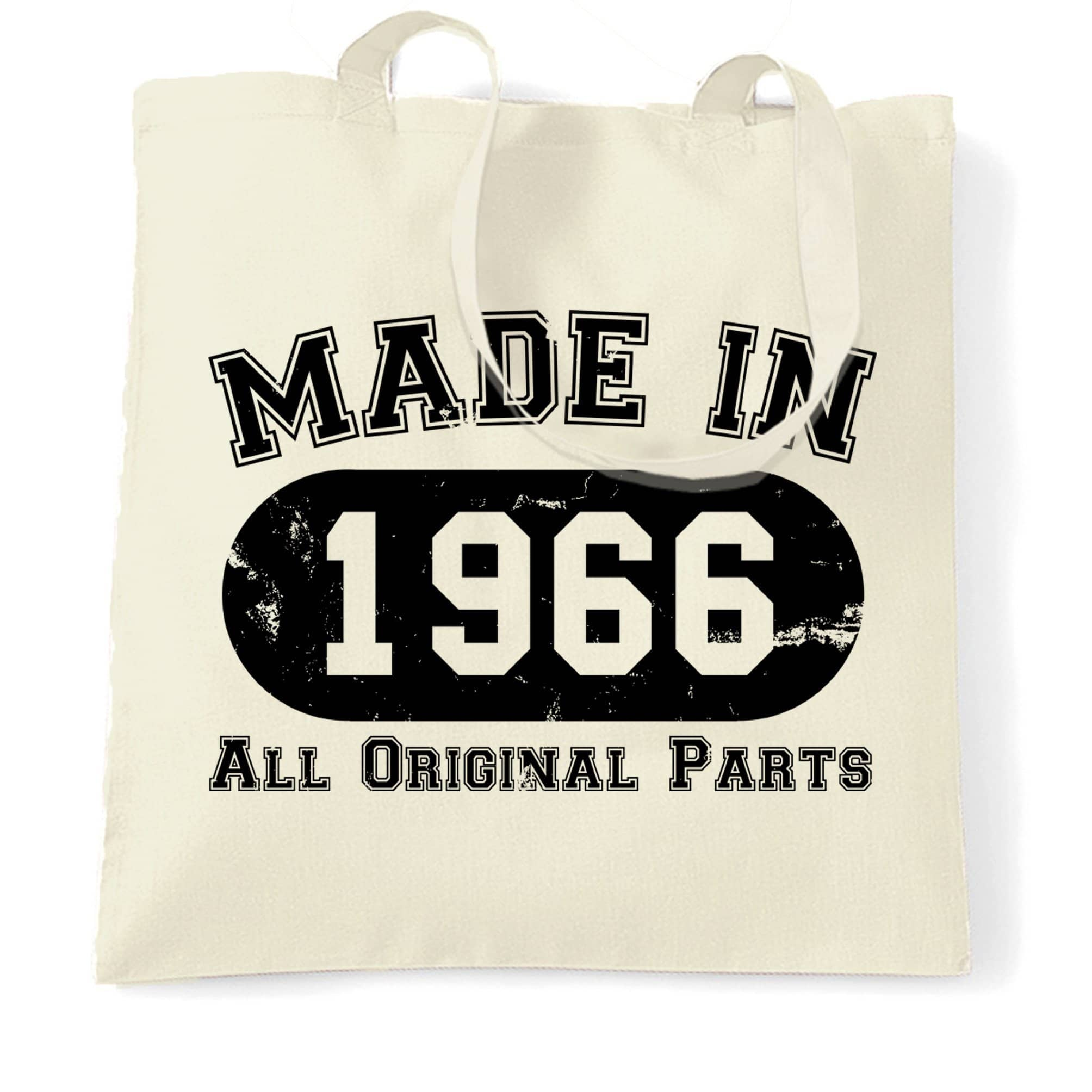 Made in 1966 All Original Parts Tote Bag [Distressed]