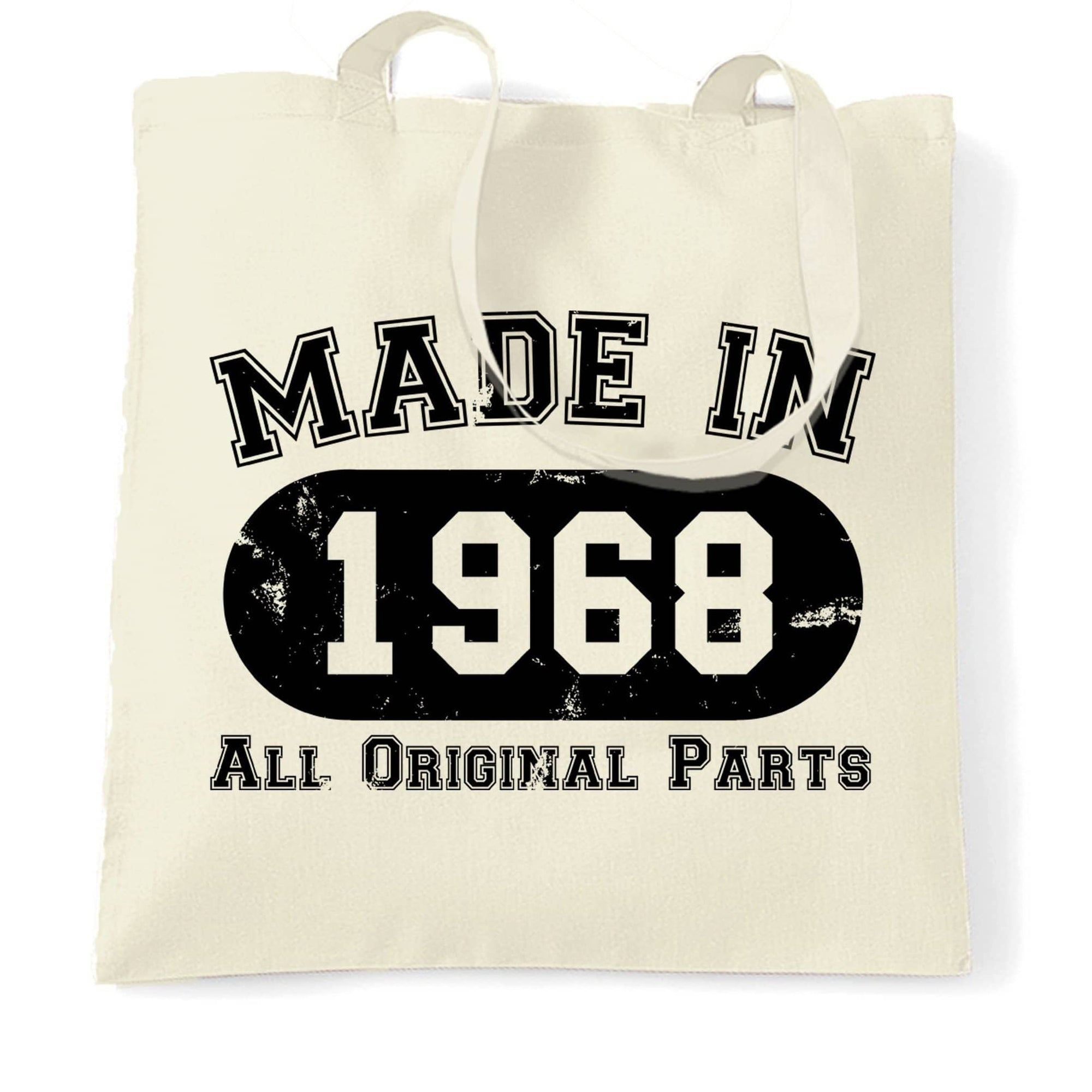 Made in 1968 All Original Parts Tote Bag [Distressed]