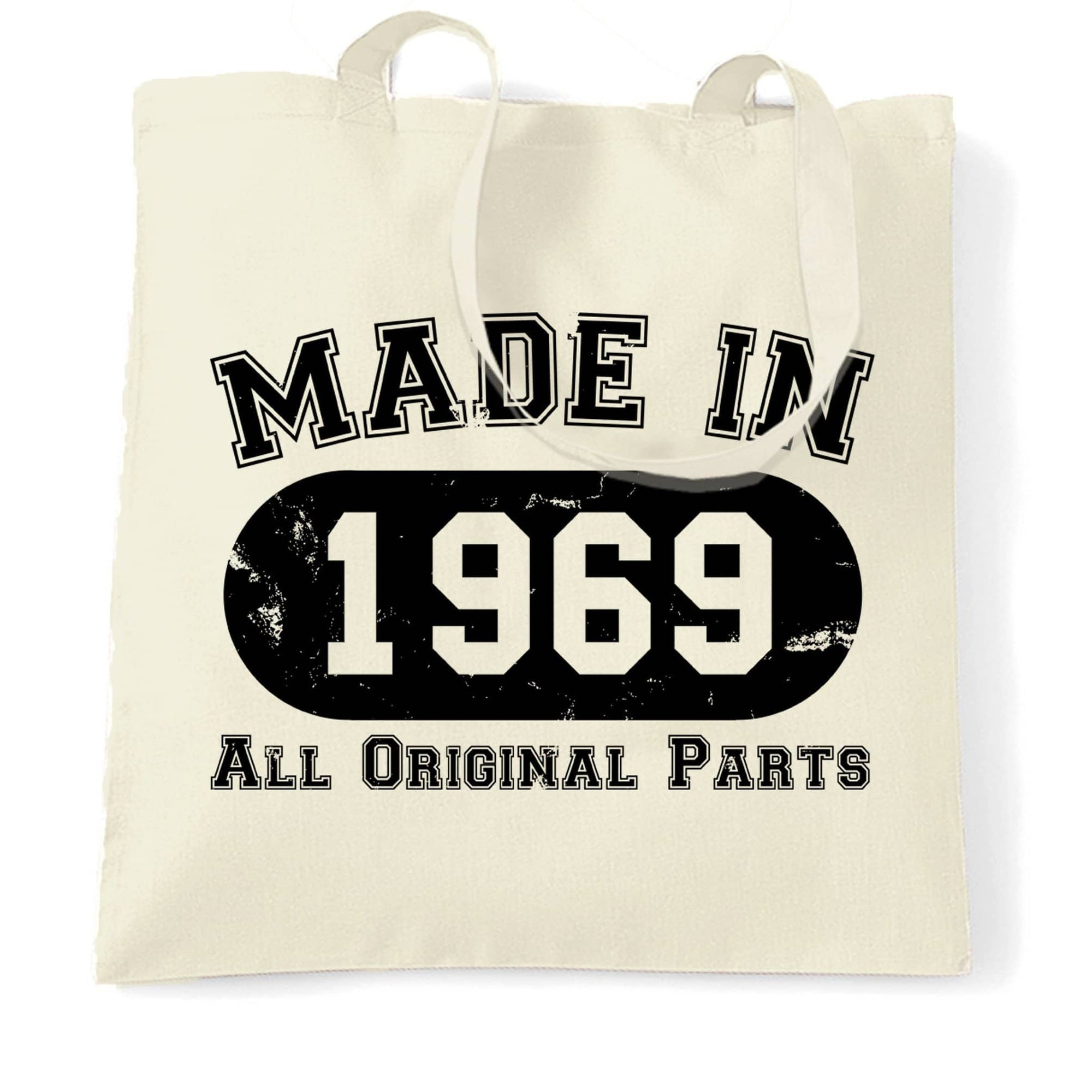 Made in 1969 All Original Parts Tote Bag [Distressed]