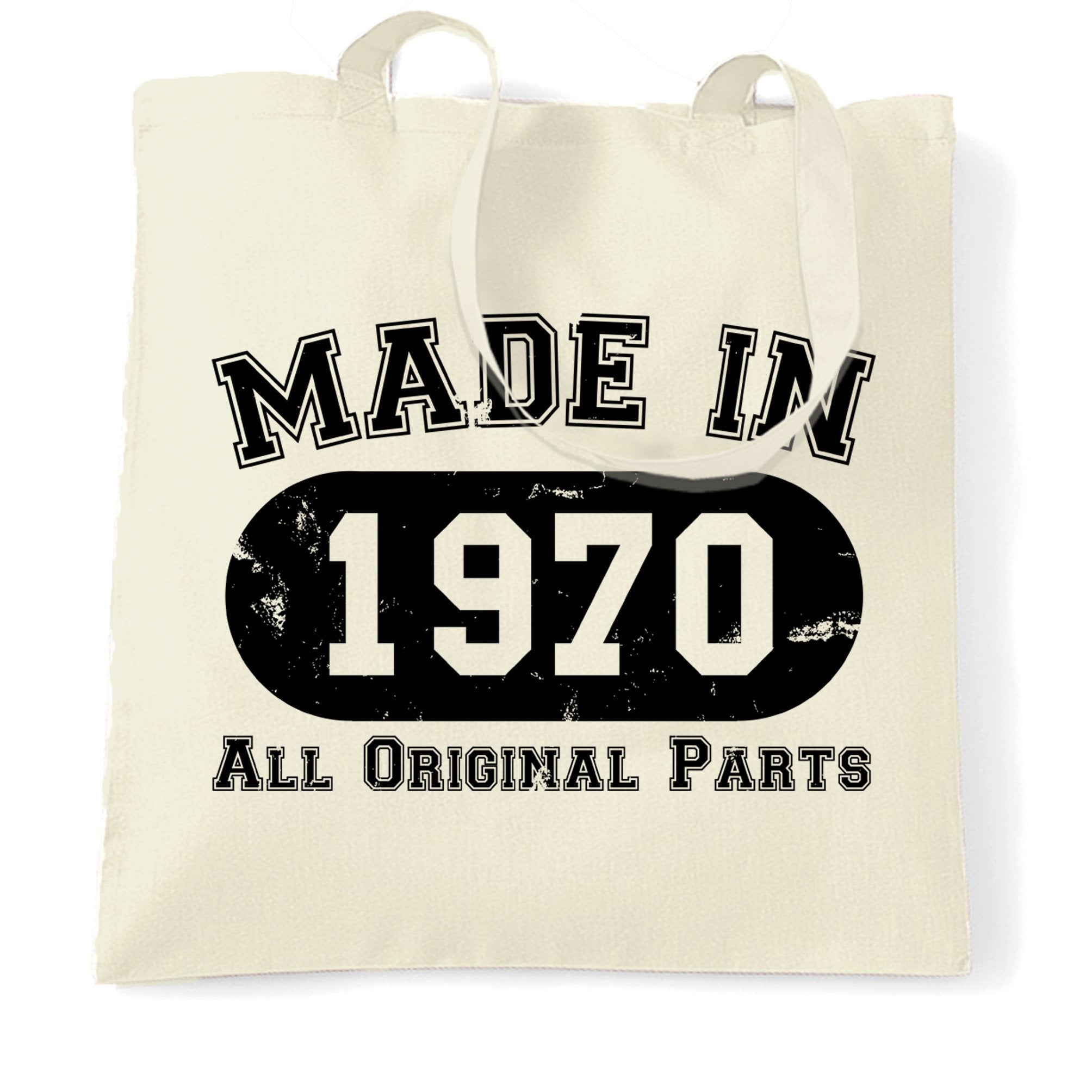 Made in 1970 All Original Parts Tote Bag [Distressed]