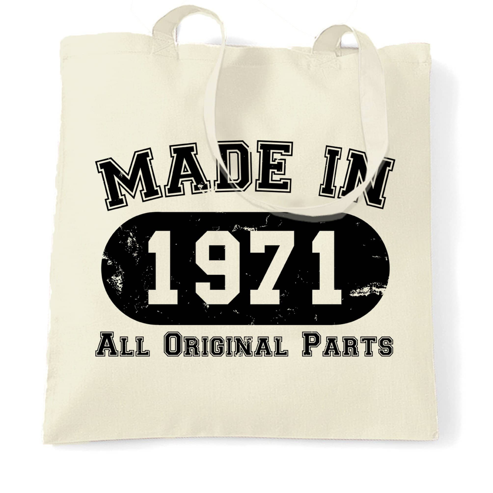 Made in 1971 All Original Parts Tote Bag [Distressed]