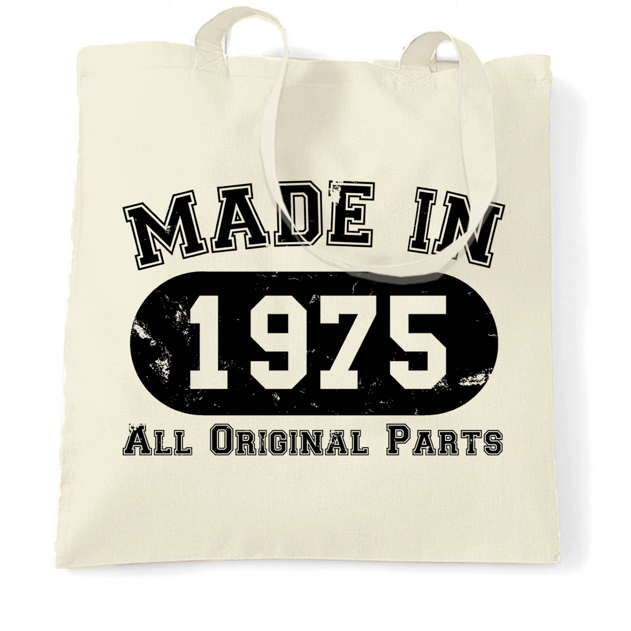 Made in 1975 All Original Parts Tote Bag [Distressed]
