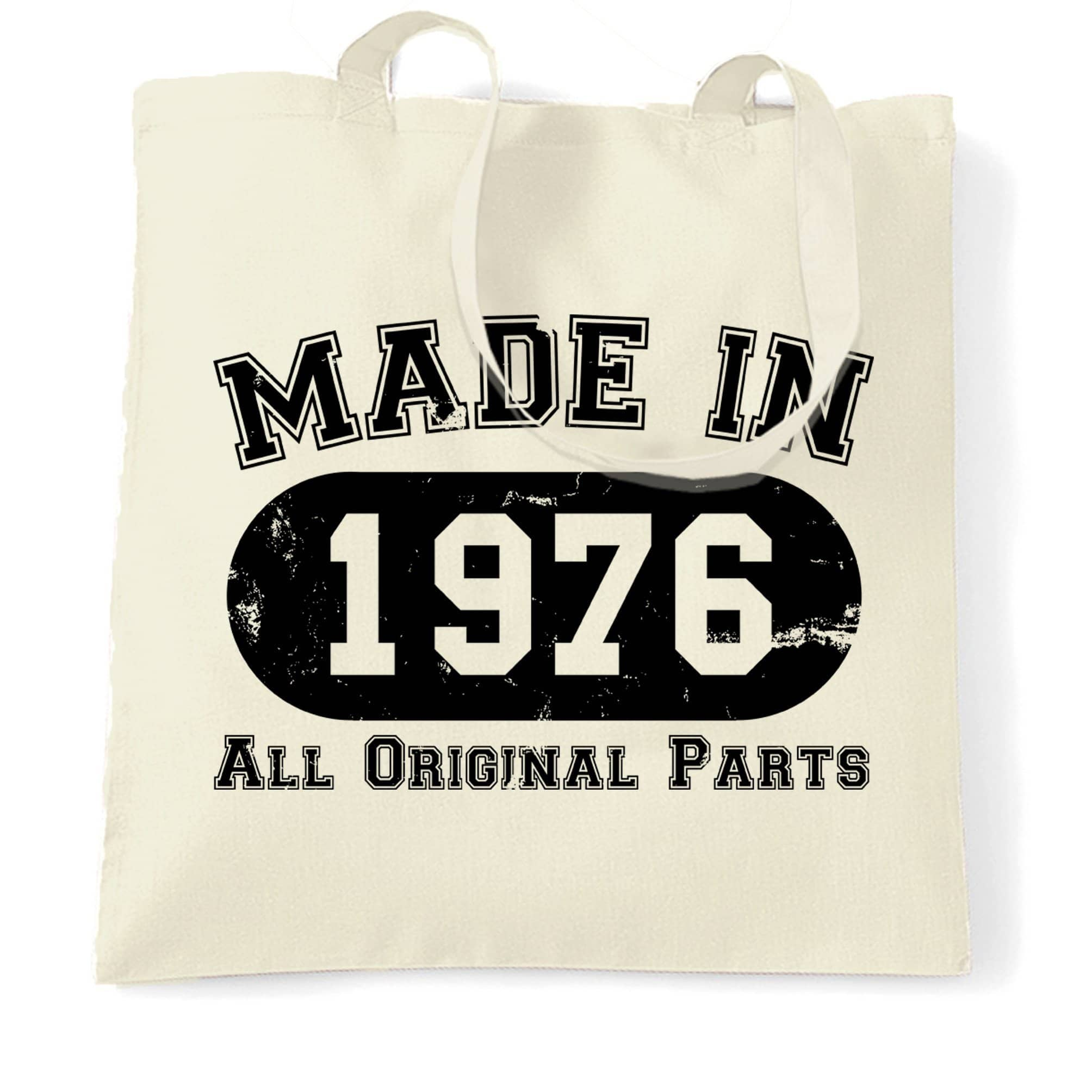 Made in 1976 All Original Parts Tote Bag [Distressed]