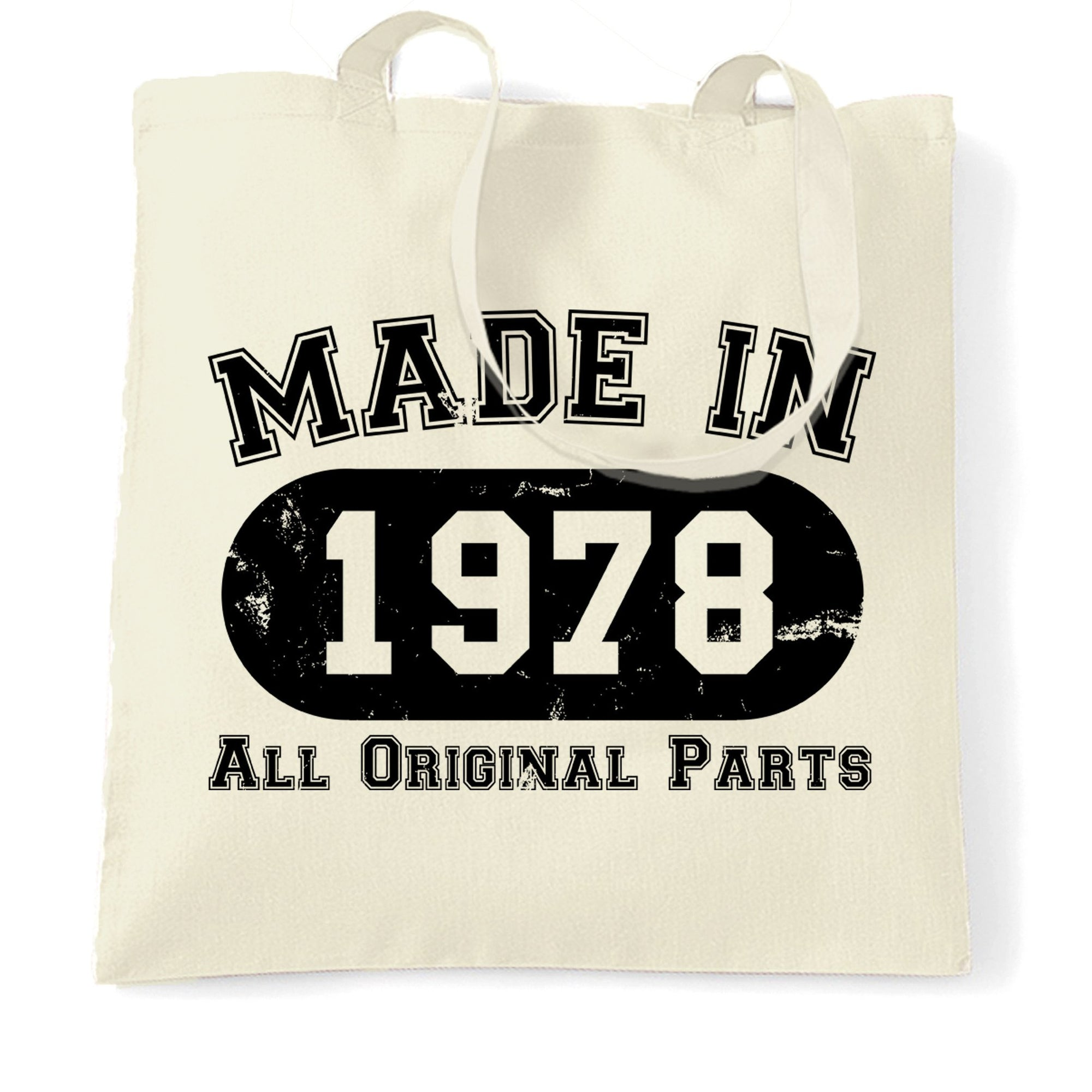 Made in 1978 All Original Parts Tote Bag [Distressed]