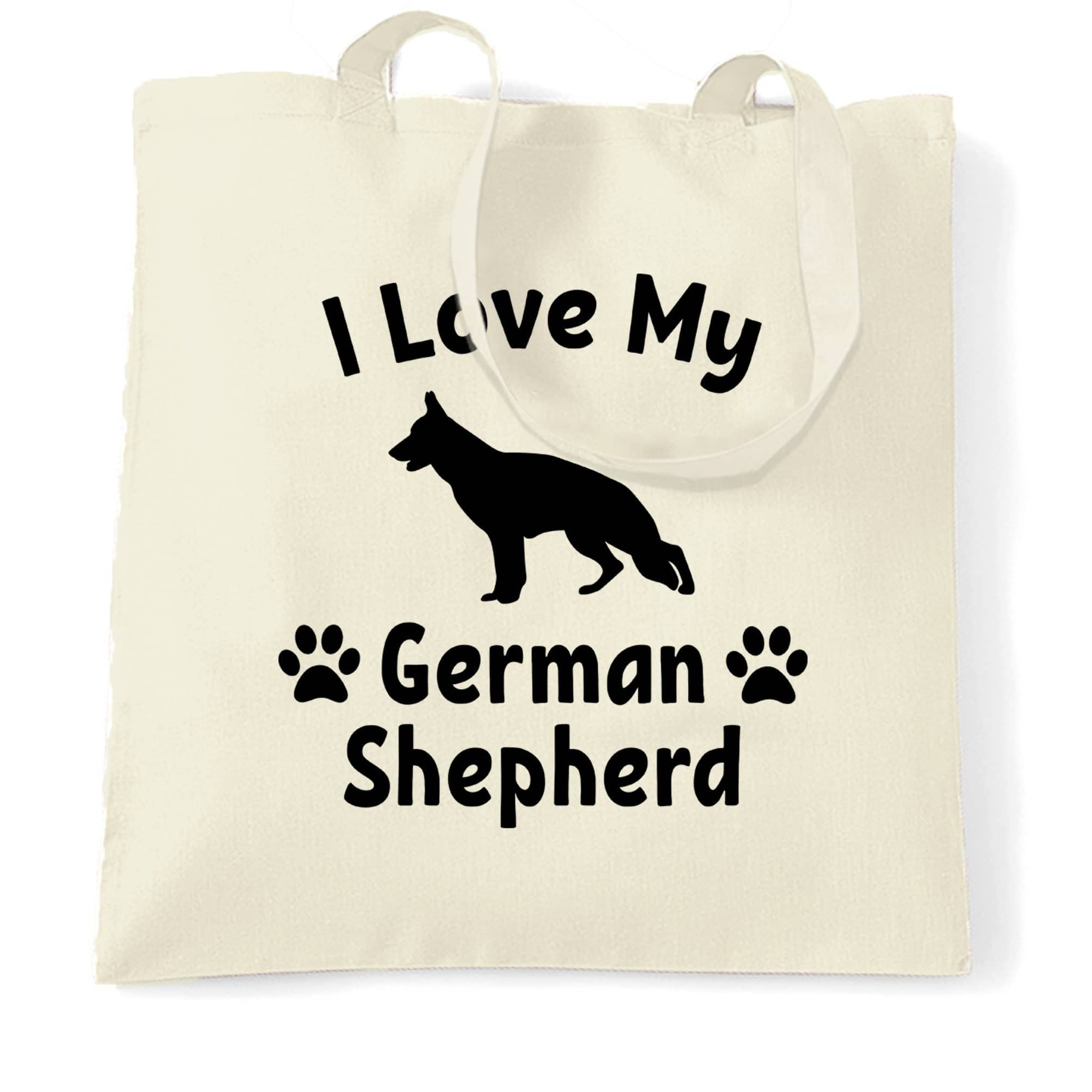 Dog Owner Tote Bag I Love My German Shepherd