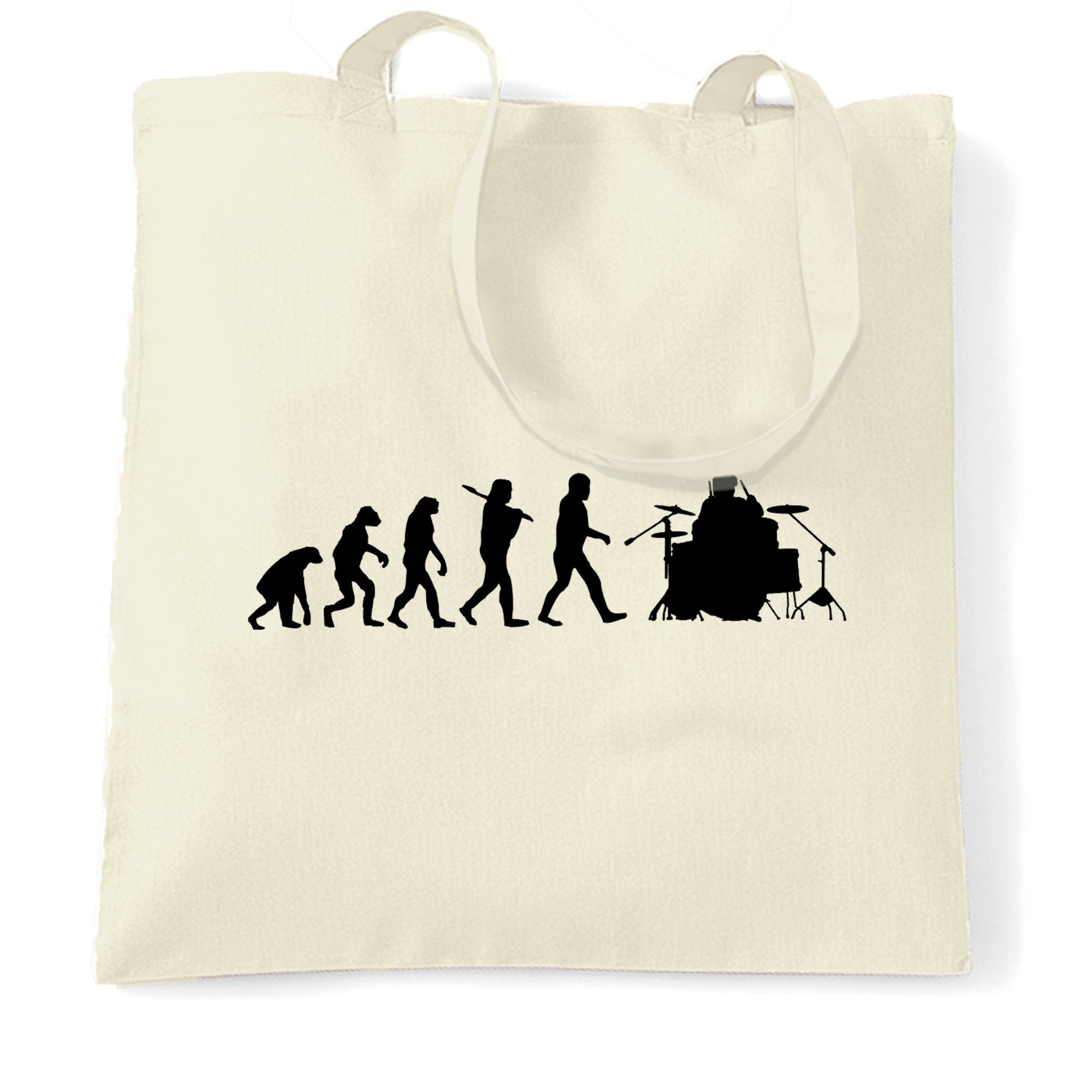 Musician Tote Bag Evolution Of A Drummer