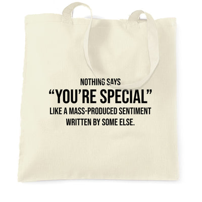 Valentines Day Tote Bag You're Special Text