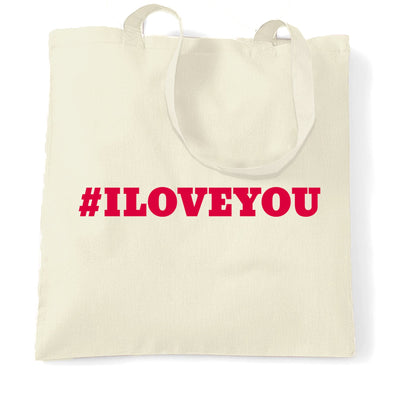 Hashtag I LOVE YOU Tote Bag
