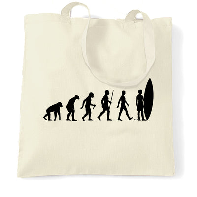 Summer Beach Tote Bag Evolution Of A Surfer Dude