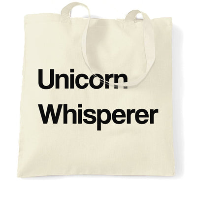 Funny Mythical Tote Bag Unicorn Whisperer