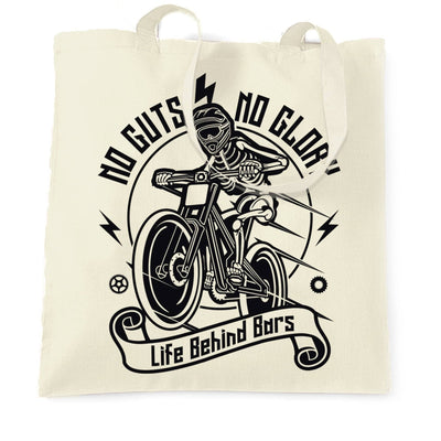 Cycling Tote Bag No Guts No Glory Mountain Biking Bike