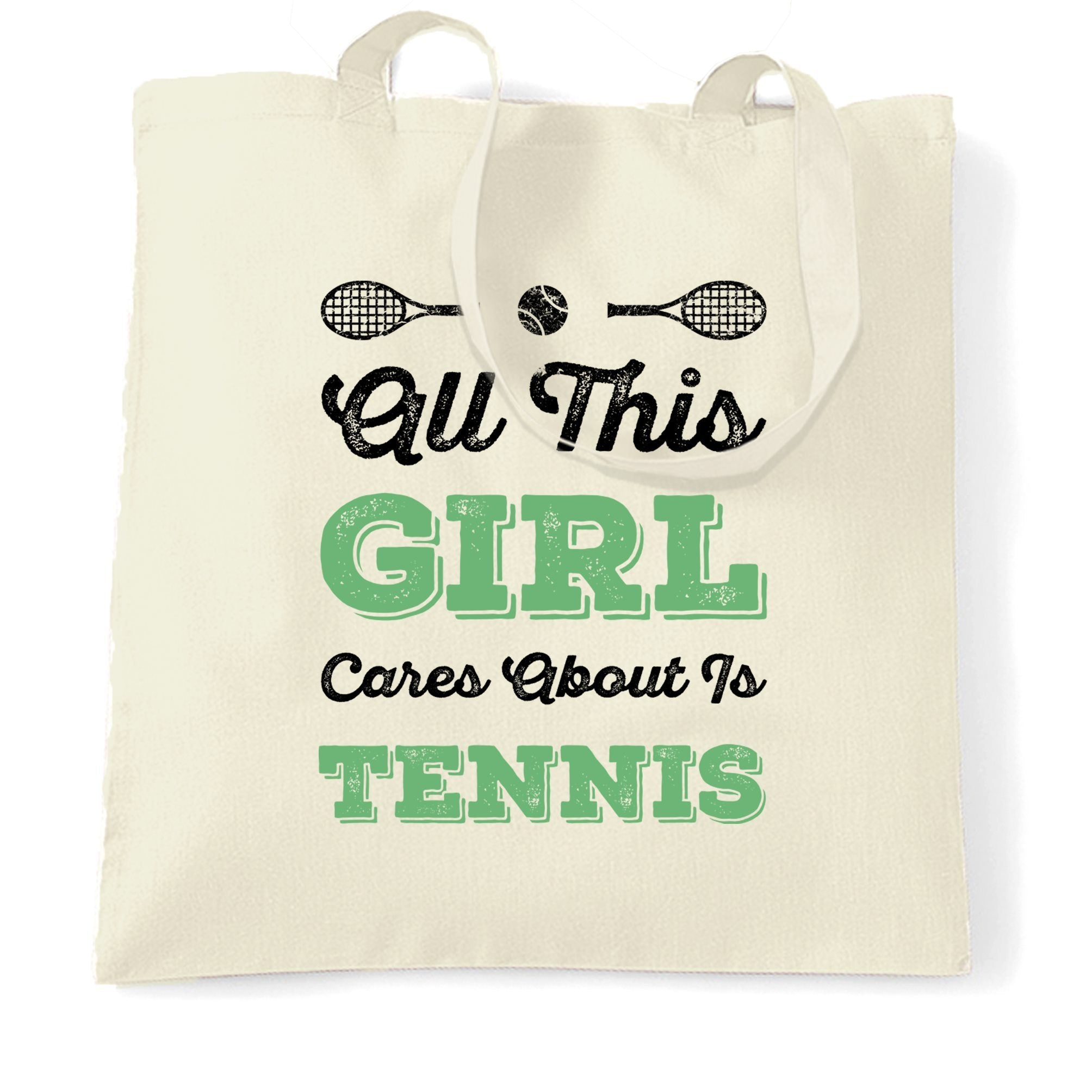 Sports Tote Bag All This Girl Cares About Is Tennis
