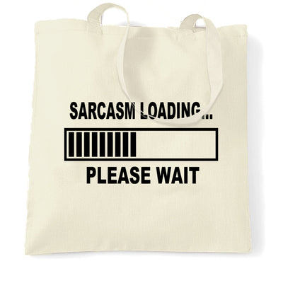 Novelty Tote Bag Sarcasm Loading Bar Please Wait