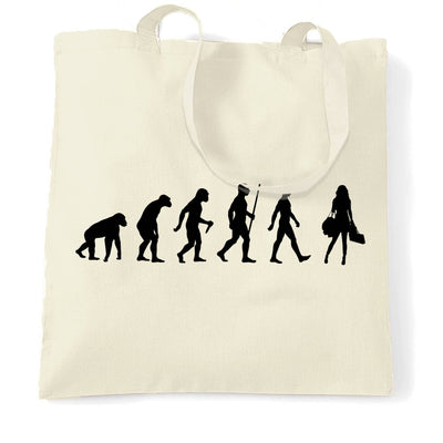 Joke Tote Bag The Evolution of Shopping